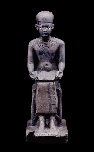 1.Бронзовая статуэтка Имхотепа. Поздний период, 6 – 4 вв. до н.э. Британский музей.